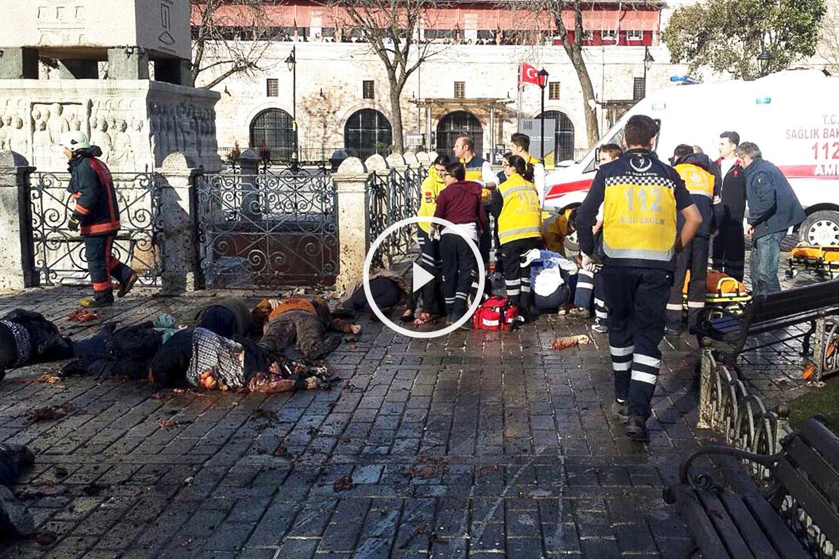 La explosión ha tenido lugar en una zona con gran concentración de turistas. (Foto: AFP)