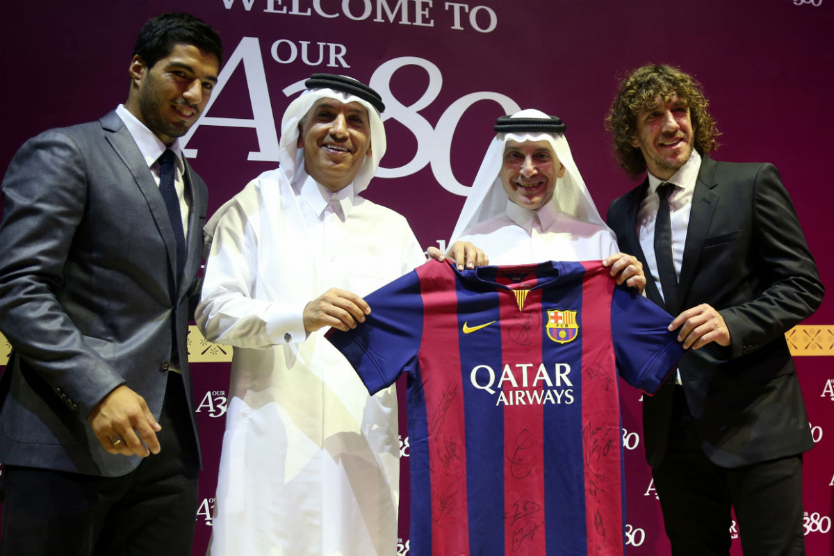 El Barcelona quiere reactivar el patrocinio de Qatar. (Getty)