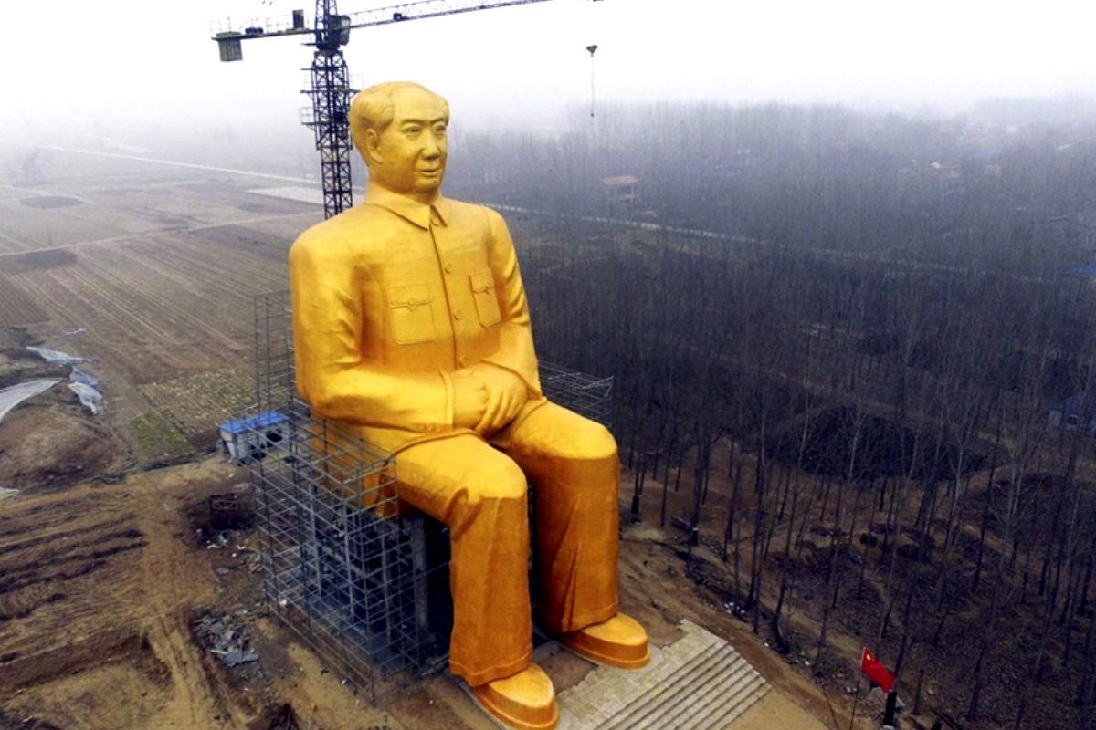Imagen de la estatua gigante de Mao Zedong construida en la provincia de Henan. (Foto: Reuters)
