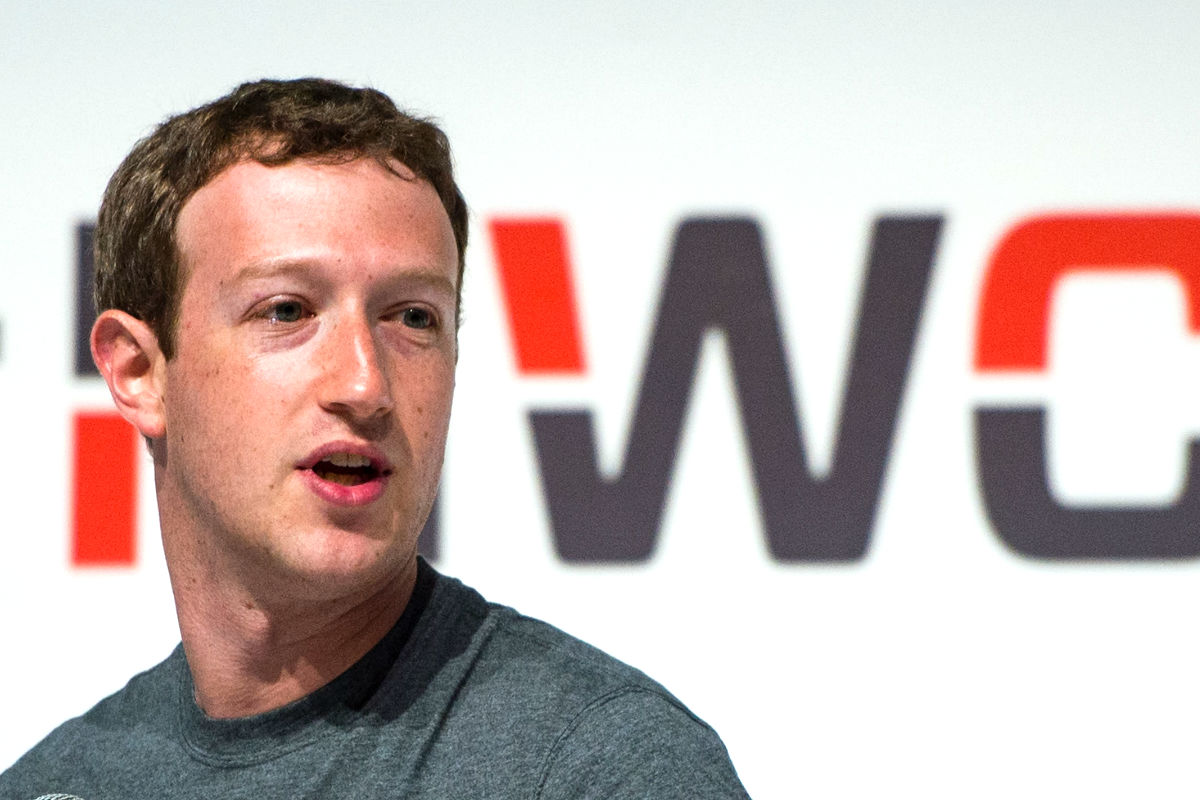 El fundador de Facebook , Mark Zuckerberg, en una conferencia. (Foto: Getty).