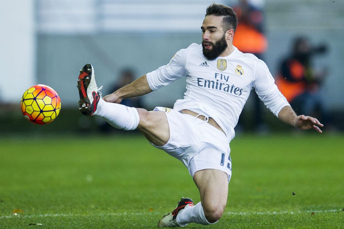 Dani Carvajal, durante el partido contra el Eibar. (Getty)