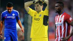 Casillas (AFP), Jackson  (Getty)  y Falcao (Getty) no levantan cabeza.