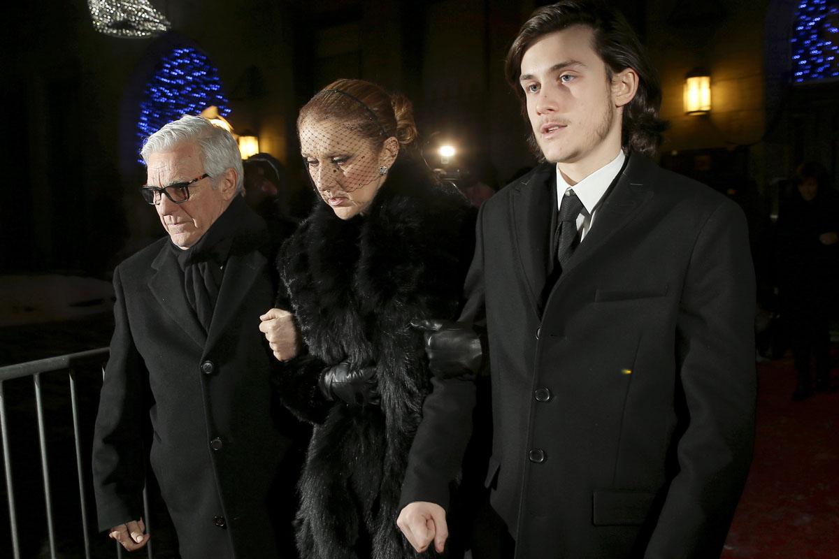 Céline Dion, visiblemente afectada. (Foto: AFP)