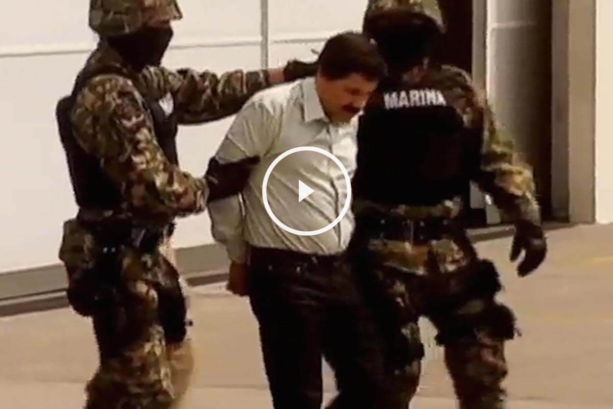 Cae el rey de los narcos que escapó de la cárcel: 'Chapo' Guzmán