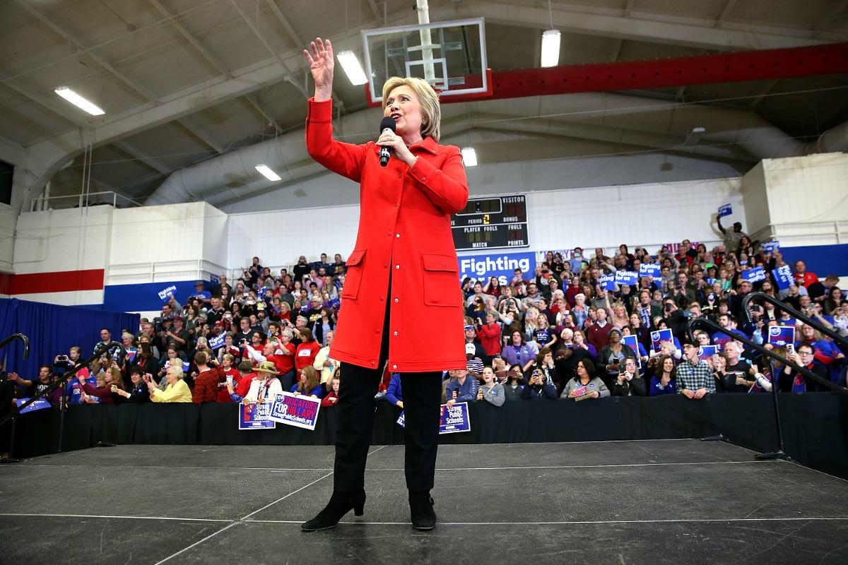 Hillary Clinton en un reciente acto de campaña (Foto: AFP).
