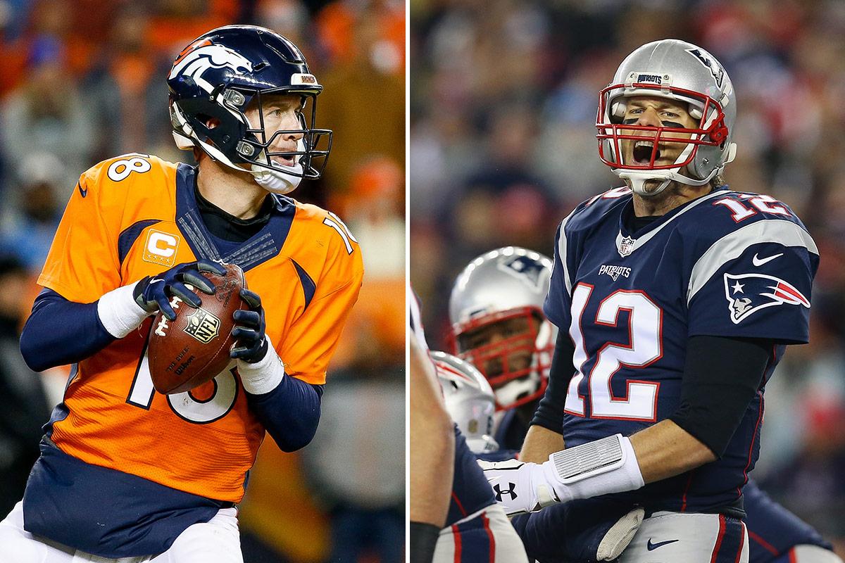 Peyton Manning y Tom Brady, dos de los mejores QBs de la historia de la NFL