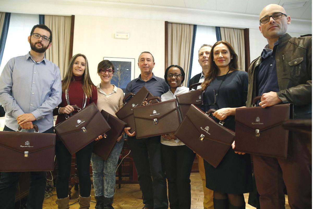 Los diputados electos por Compromís. (Foto: EFE)