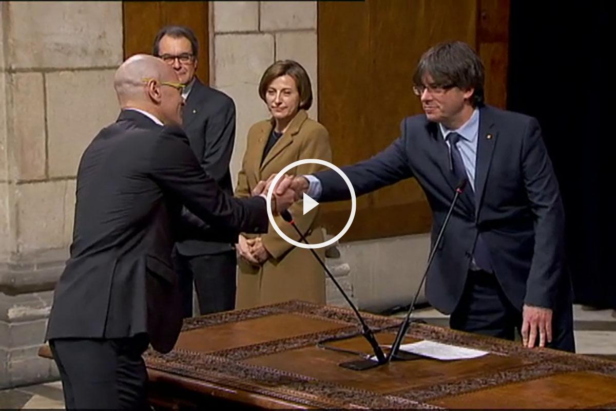 Los nuevos consejeros catalanes han jurado su cargo