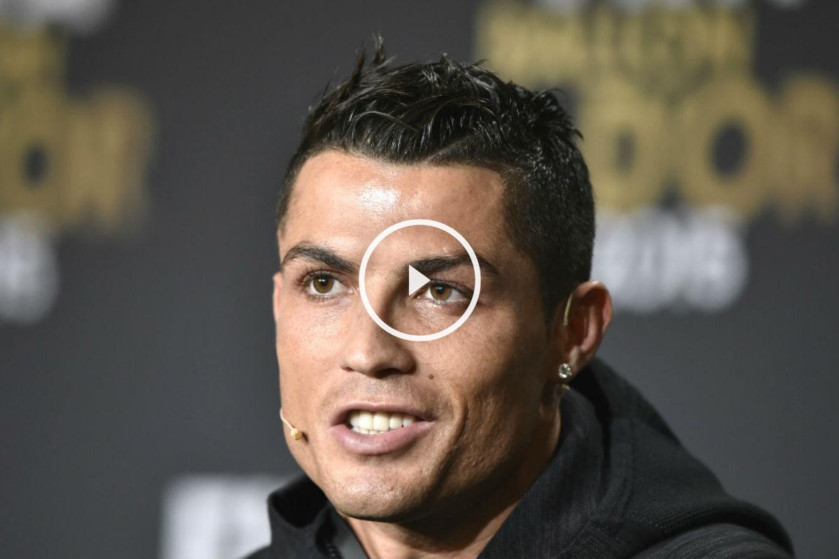 Cristiano Ronaldo, en la rueda de prensa. (AFP)