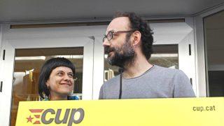 Los diputados de la CUP Anna Gabriel y Benet Salellas (Foto: Efe).
