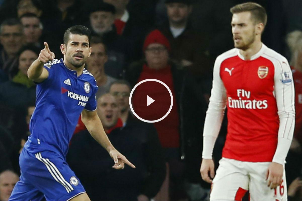 Diego Costa abrió el marcador en el Emirates. (Reuters)