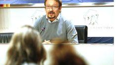 Xavier Domènech en una reciente rueda de prensa (Foto: Efe).
