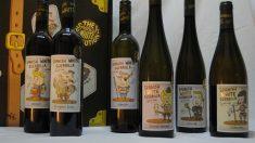 Spanish White Guerrilla es una colección de vinos blancos con etiqueta llamativa.