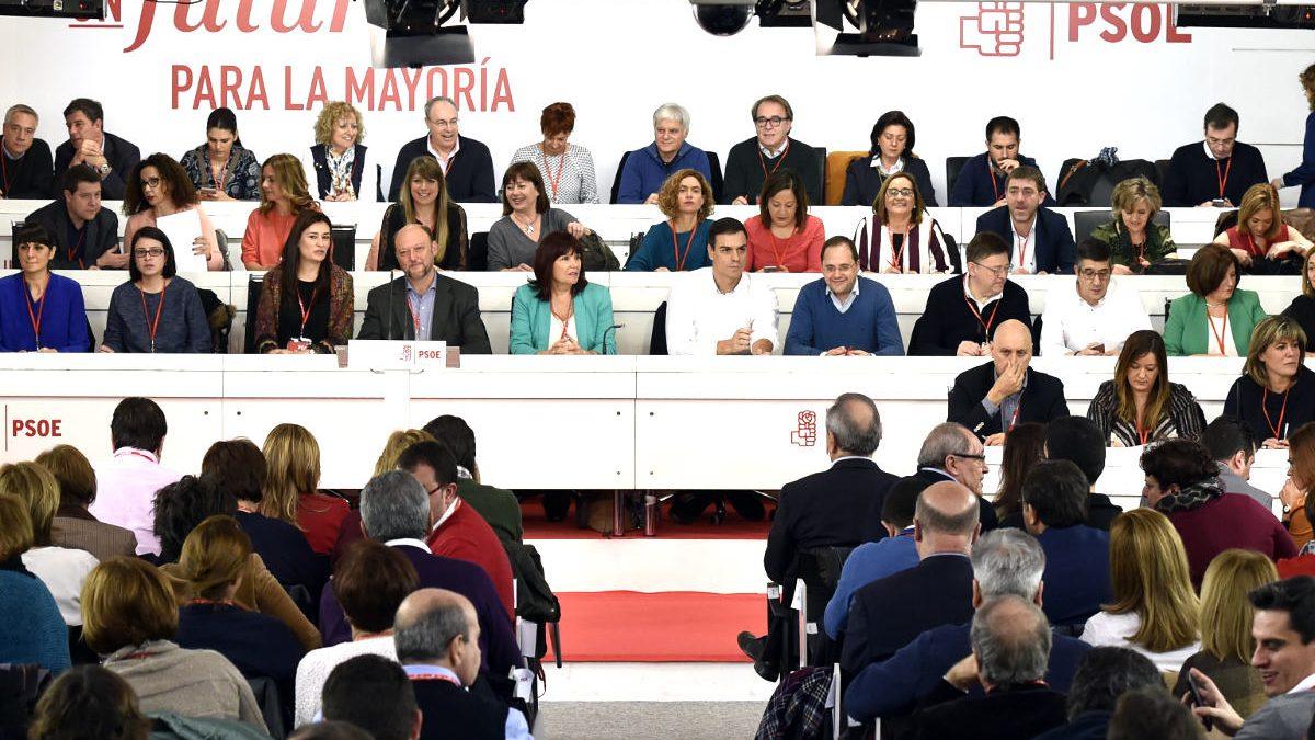 Imagen del Comité Federal del PSOE (Foto: AFP).