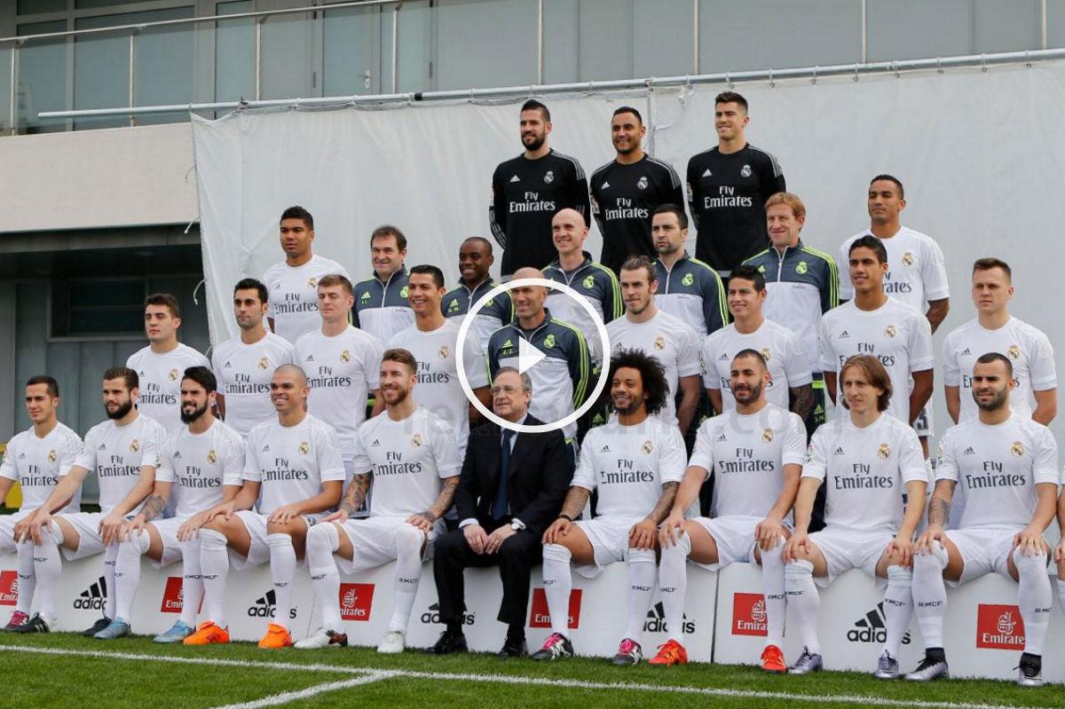 El Real Madrid se hizo la foto oficial con Zidane.