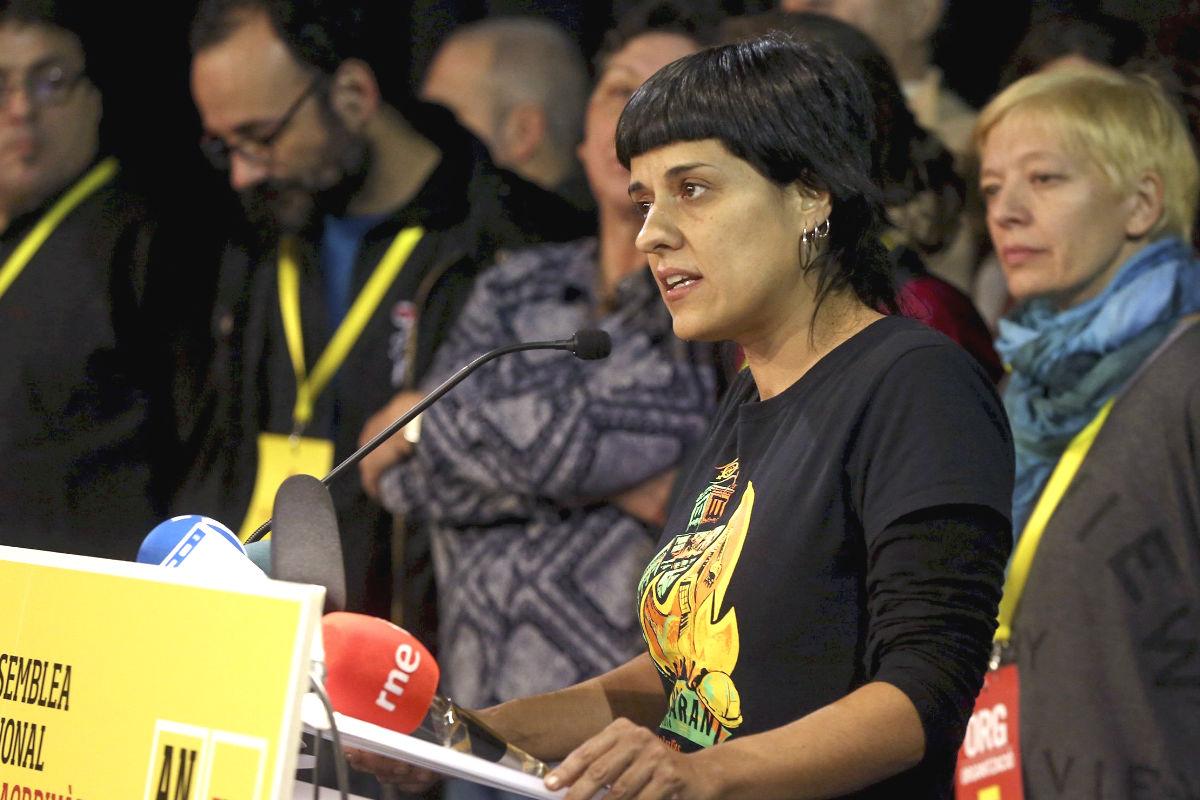 La portavoz parlamentaria de la CUP, Anna Gabriel (Foto: Efe)