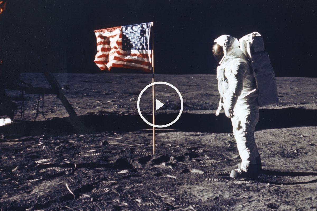 El hombre pisa la luna en julio de 1969. (Foto: NASA)