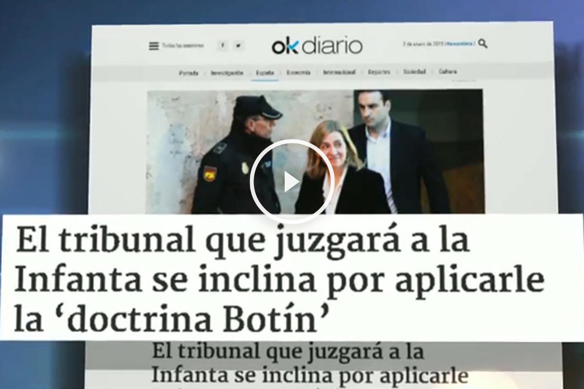 Eduardo Inda explica la exclusiva de Okdiario sobre la aplicación de la 'doctrina Botín' a la infanta
