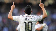 James celebra un gol en el Bernabéu. (AFP)