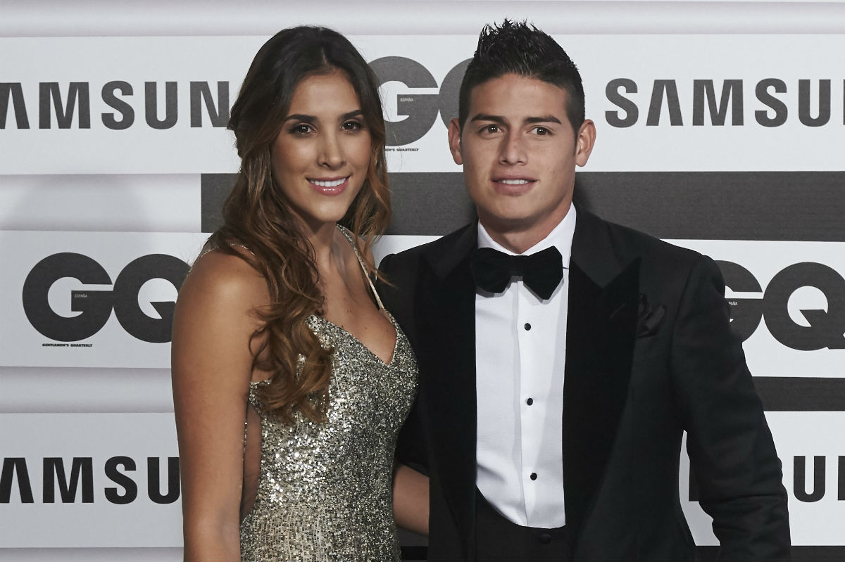 James Rodríguez y su mujer, Daniela Ospina. (Getty)