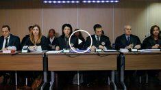El tribunal está formado por las magistradas Samantha Romero, Eleonor Moyà y Rocío Martín. (Foto: EFE)