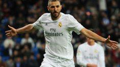 Karim Benzema marcó al Espanyol. (Getty)
