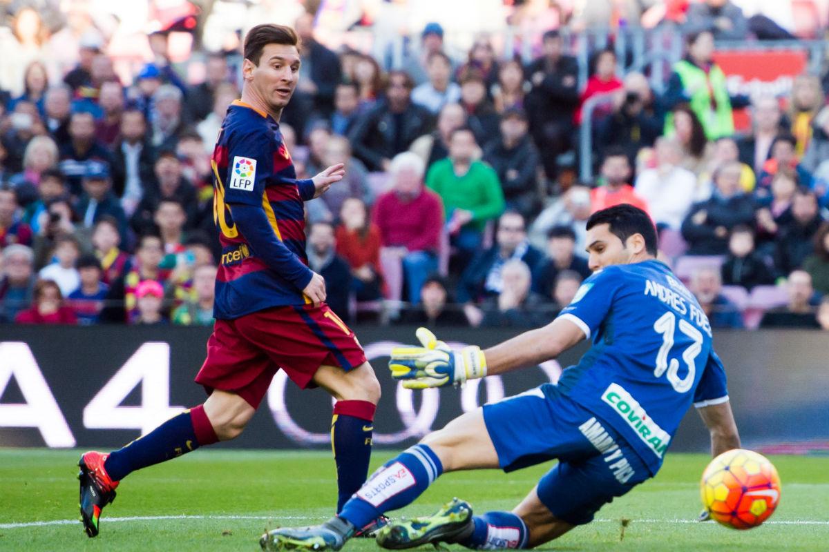 Leo Messi, protagonista ante el Granada. (Getty)