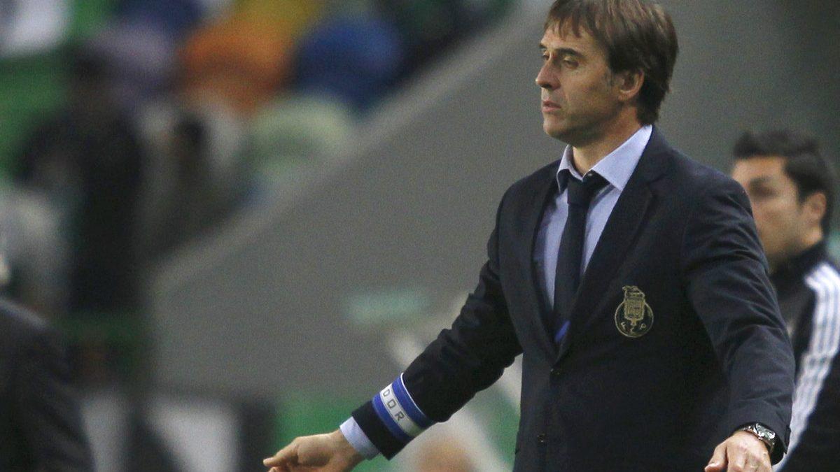 Lopetegui, durante el duelo ante el Sporting de Lisboa. (Reuters)