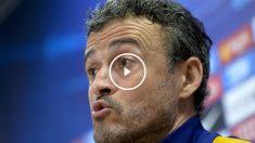 Luis Enrique habló en rueda de prensa. (AFP)