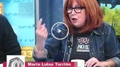 María Luisa Turrión, durante su aparición en el programa La Tuerka