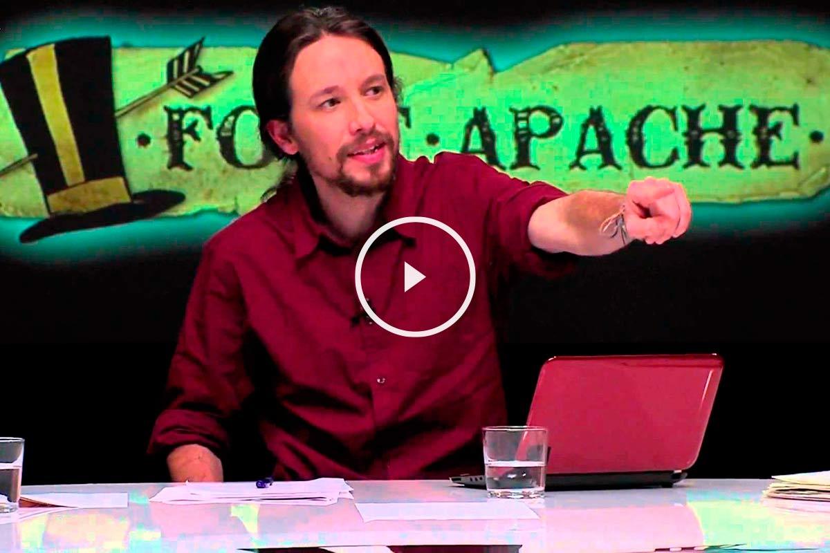 Vídeo en el que Pablo Iglesias justifica que Irán financie su carrera política.