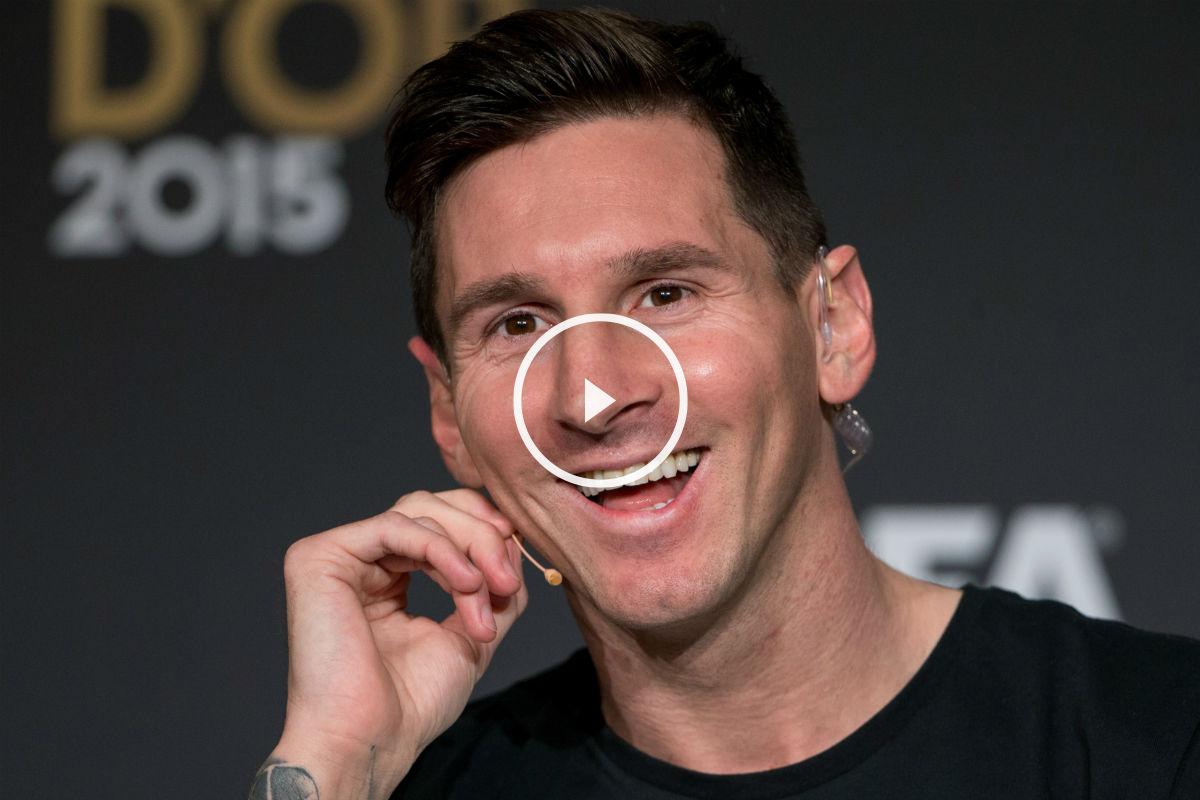 Messi atendió a los medios. (Getty)