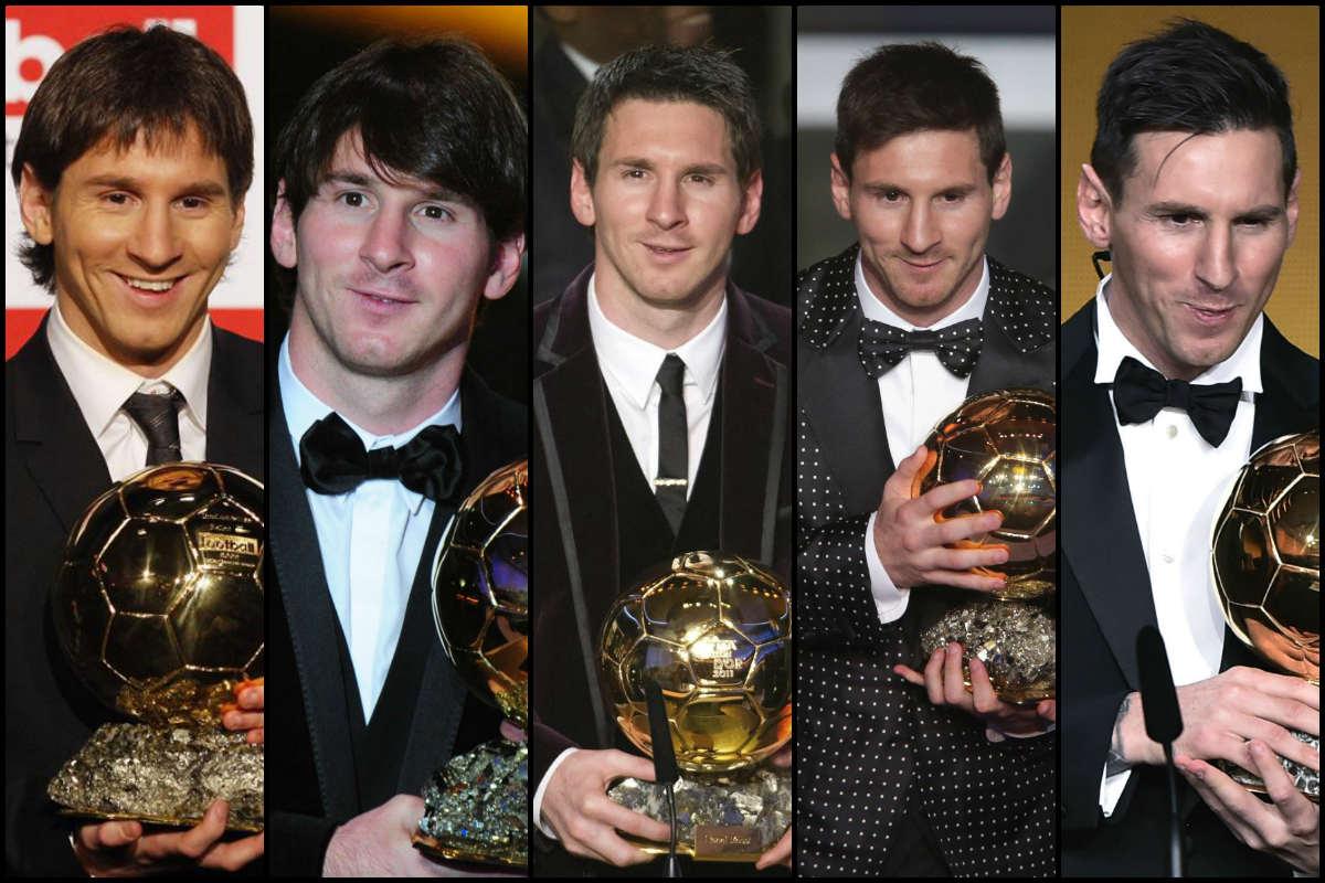 Messi ya tiene cinco Balones de Oro.
