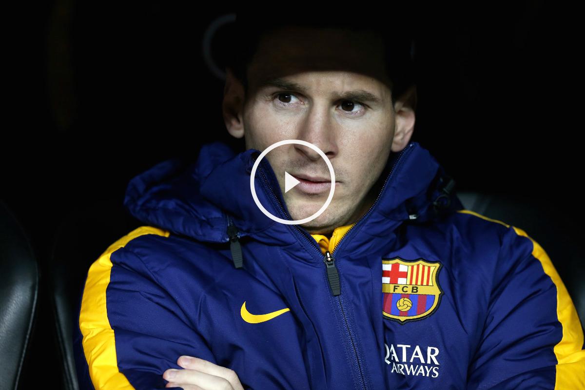 Leo Messi, en el banquillo del Santiago Bernabéu (Reuters)