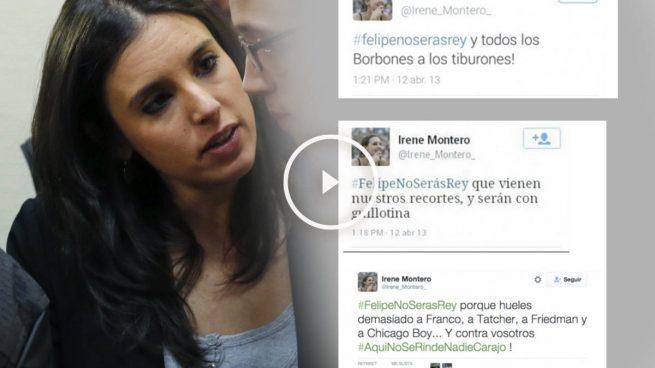 Irene Montero borra los tuits tras la pillada de OKDIARIO