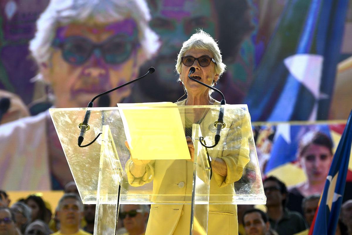 Muriel Casals, en un acto público en 2014 (Foto: AFP).