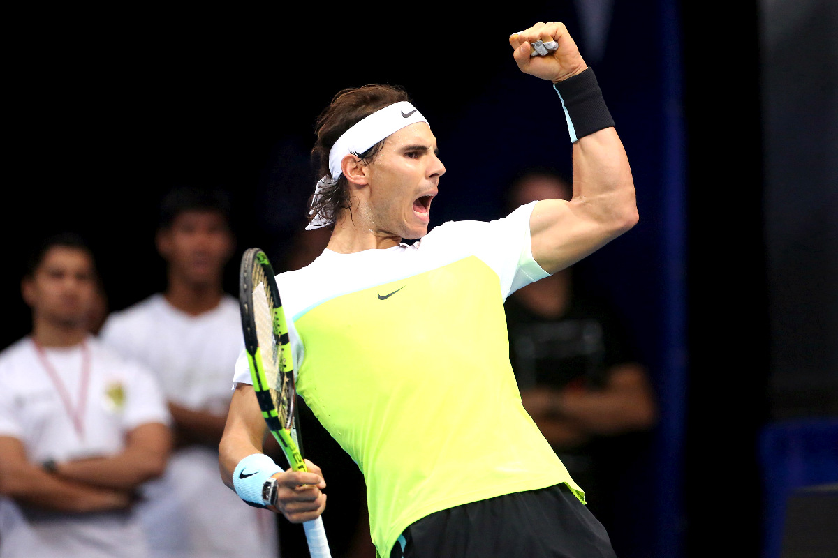 Rafa Nadal celebra un punto en Indian Wells. (Reuters)
