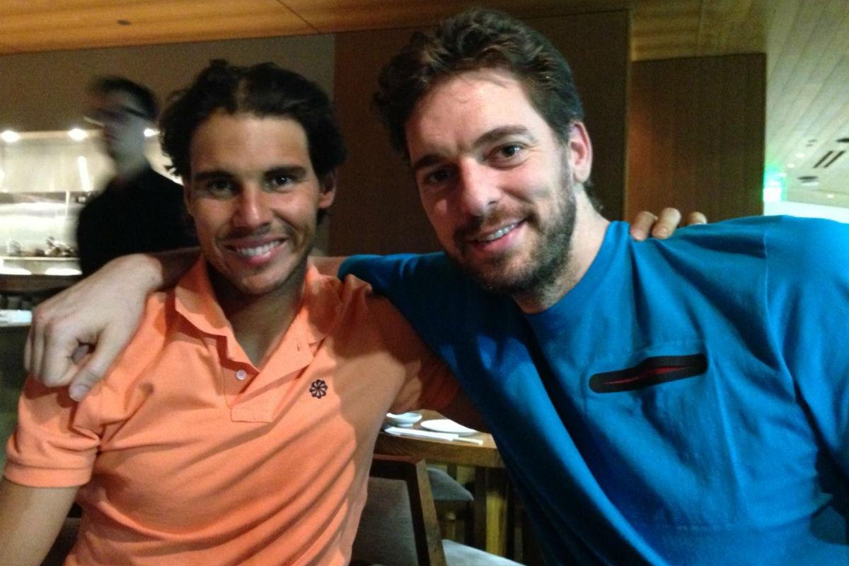 Rafa Nadal pide apoyo para Pau Gasol.