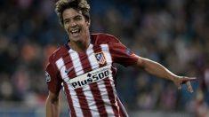 Óliver Torres celebra un gol con el Atlético. (Getty)