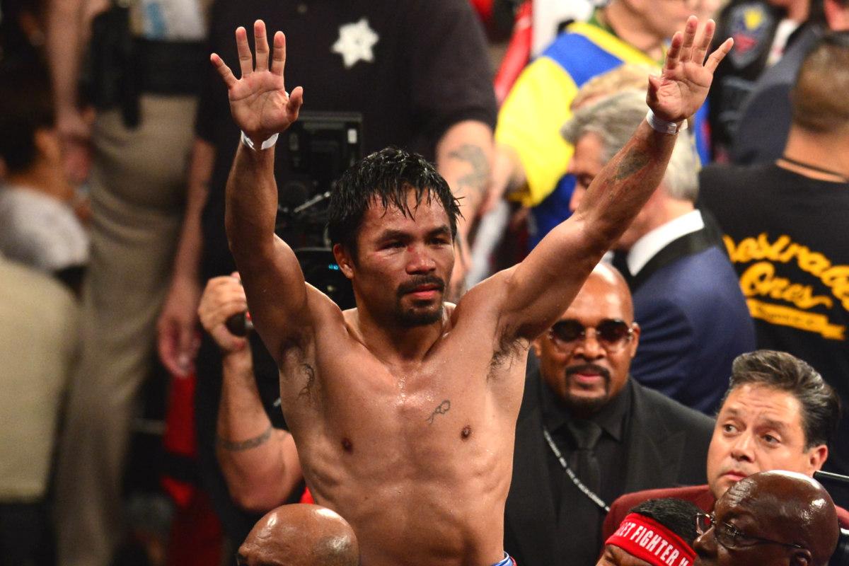 Manny Pacquiao colgará los guantes el 9 de abril. (AFP)