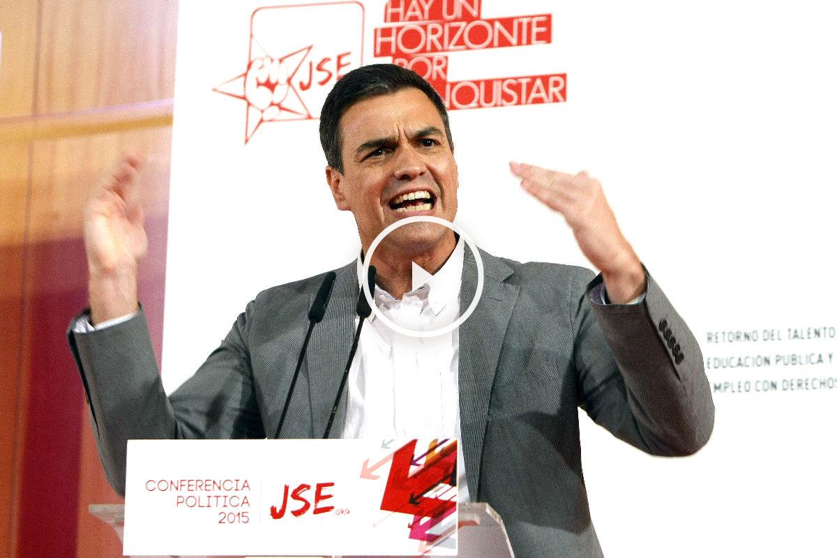 Pedro Sánchez en un acto del PSOE (Foto: Efe).