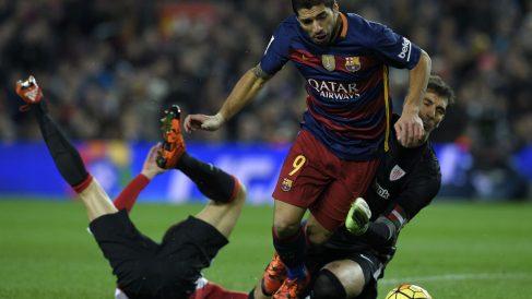 El Barcelona es el equipo de la Liga con más penaltis a favor. (AFP)
