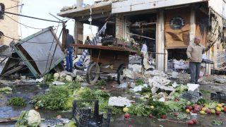 Raqqa después de un bombardeo. (Foto: Getty)