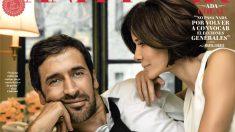 Raúl González, junto a su mujer Mamen en la portada de 'Vanity Fair'.