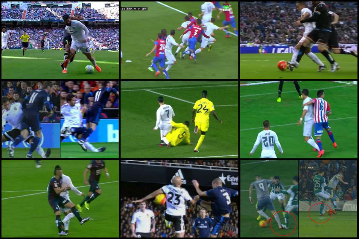 El Real Madrid, cabreado con los penaltis no pitados esta temporada.
