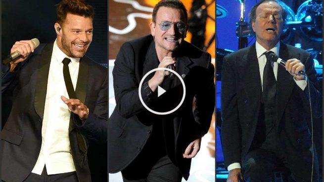Bono, Julio Iglesias, su hijo Enrique, Maná y Ricky Martin estarán en el homenaje a Plácido Domingo en el Bernabéu
