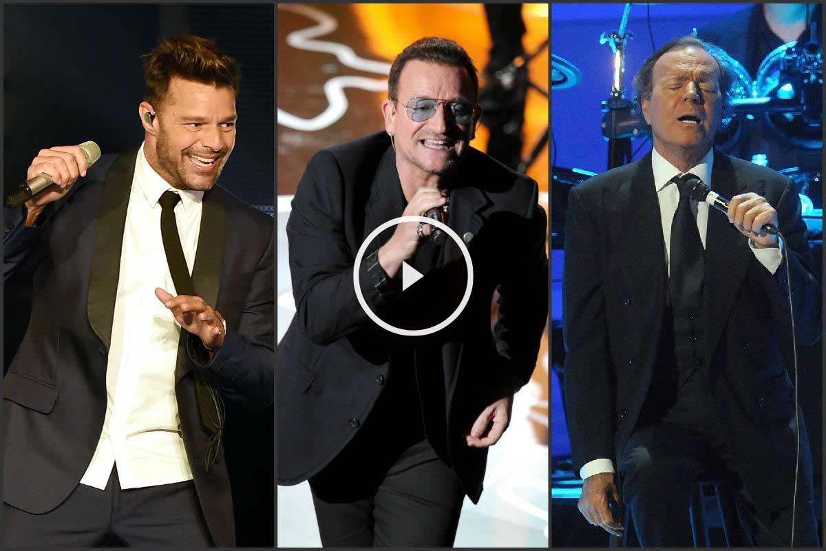 Ricky Martin, Bono y Julio Iglesias estarán en el concierto homenaje a Plácido Domingo.