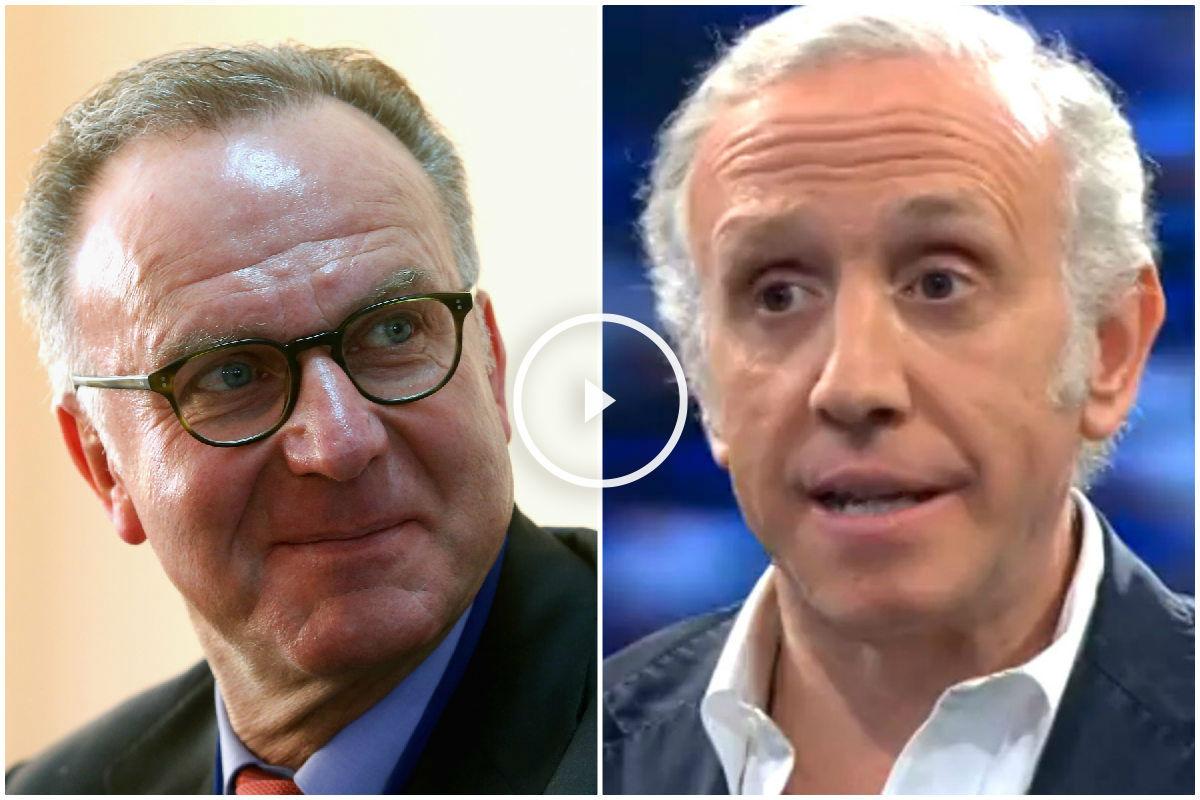 Karl-Heinz Rummenigge y Eduardo Inda.