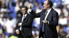 Rafa Benítez, en uno de sus últimos partidos con el Madrid. (Getty)