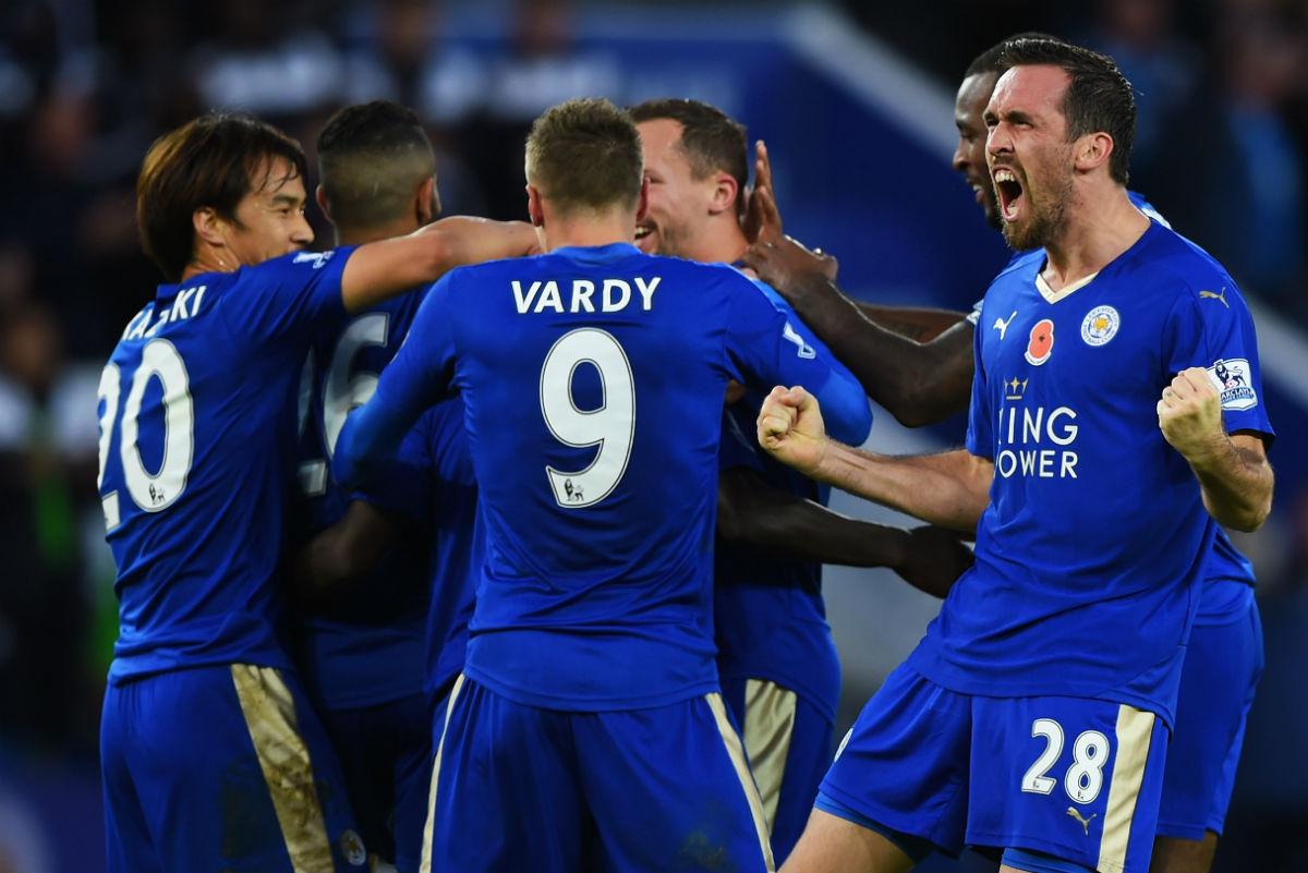 El Leicester está a una victoria de lograr su primera Premier League. (Getty)